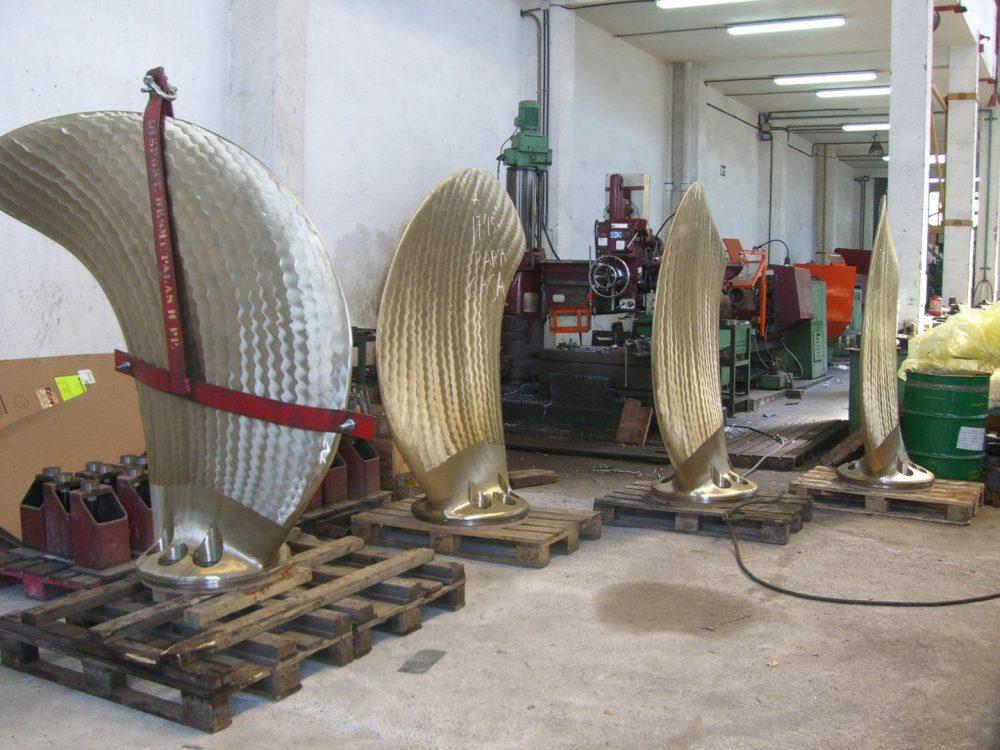 Foto Propellerflügel fertig zum Einbauen 1000x750px | Propeller Service Bremerhaven